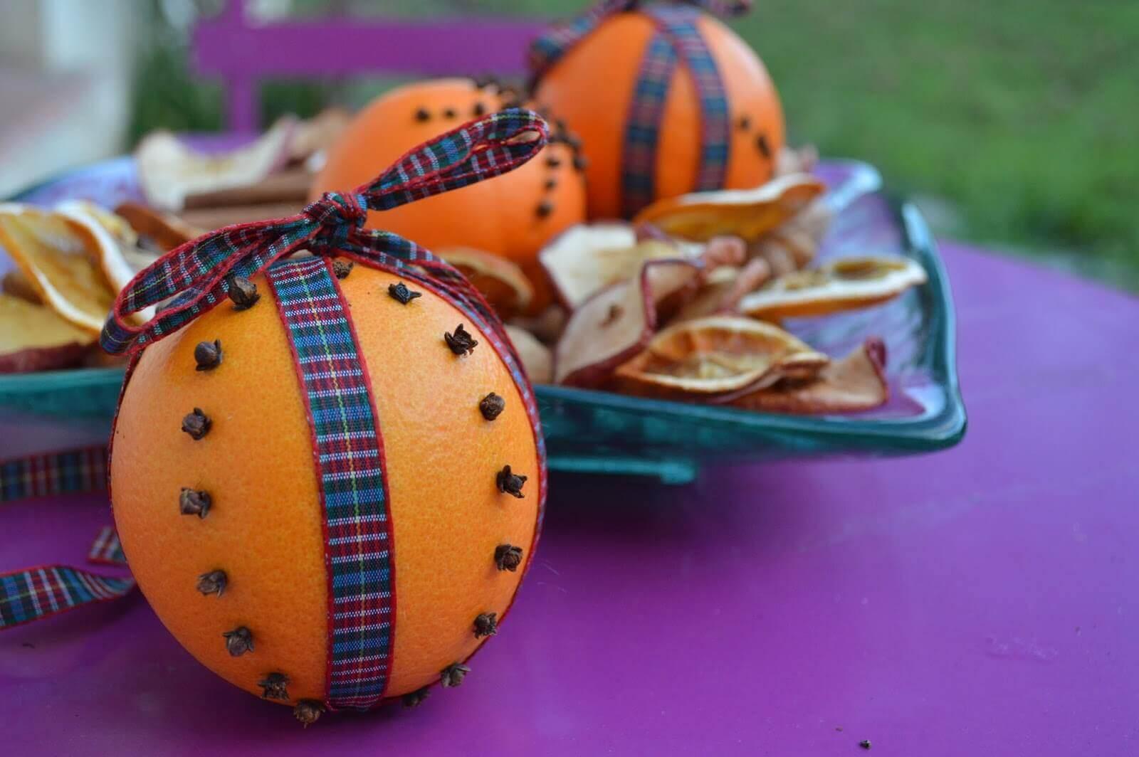 Dekorerede appelsiner