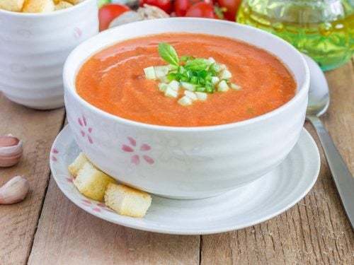 Gazpacho suppe