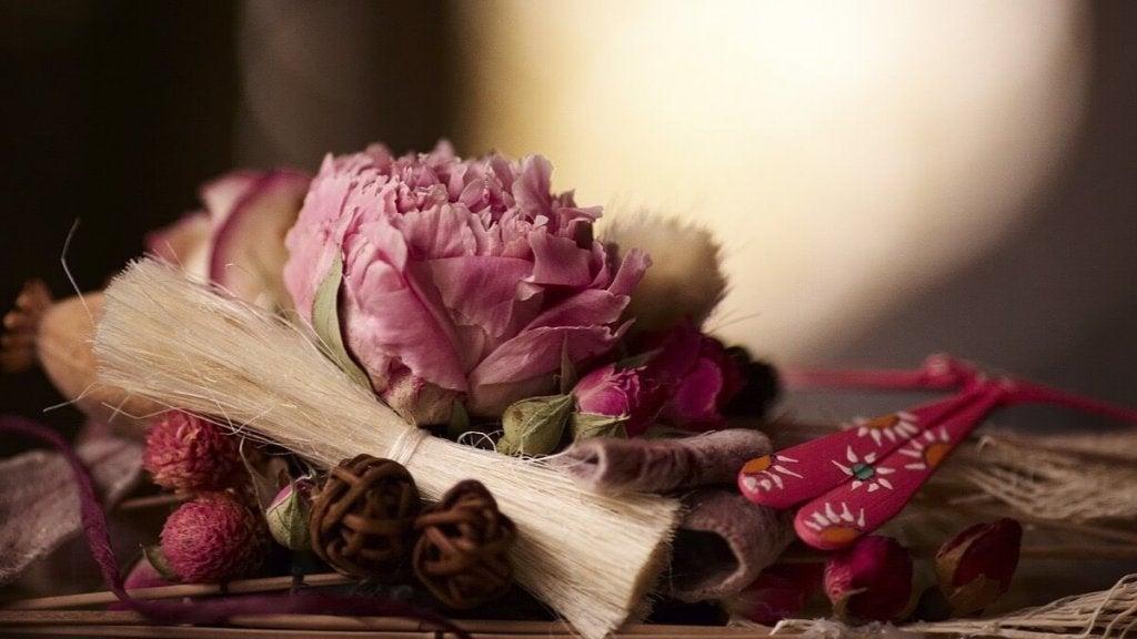 Tørrede blomster.