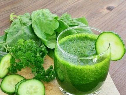 Grønne smoothies med agurk