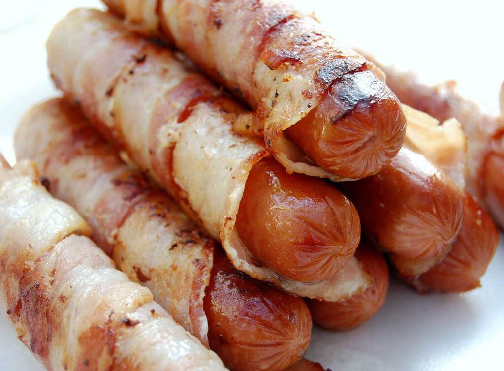 Poelser med bacon