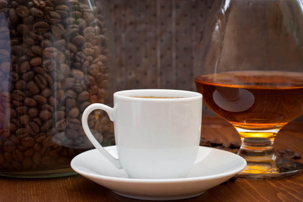 Kaffe og whiskey