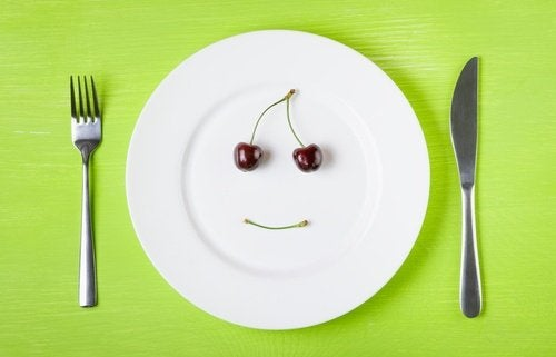 Tallerken og kniv og gaffel - kontrollere dit kolesterol