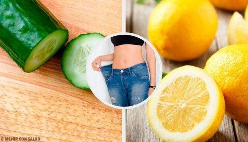 Bliv slank med denne smoothie med agurk, citron og mynte