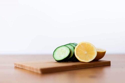 Citron og agurk - smoothie med agurk