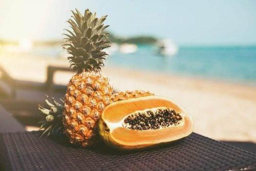 Frugter ved stranden - reducere dit mavefedt