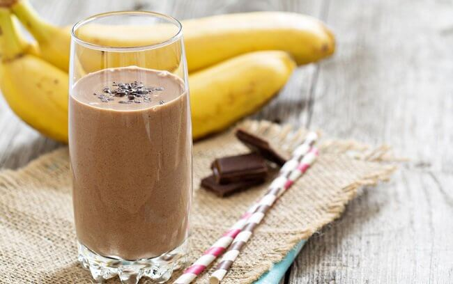 Chokolade banan smoothie - smoothies til morgenmad