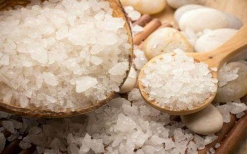 Skaal med groft salt