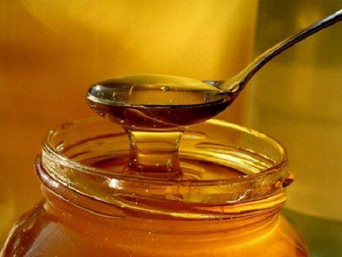 Honning mod hoste.