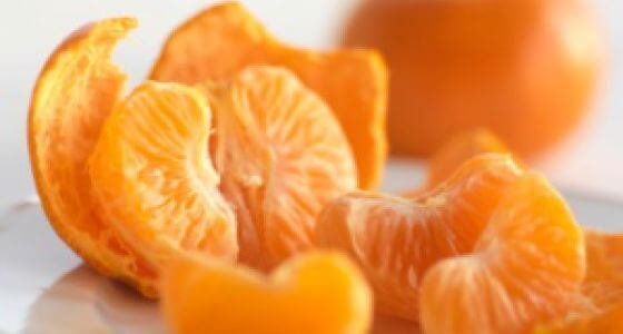 Skraellede klementiner med hoejt C-vitaminindhold