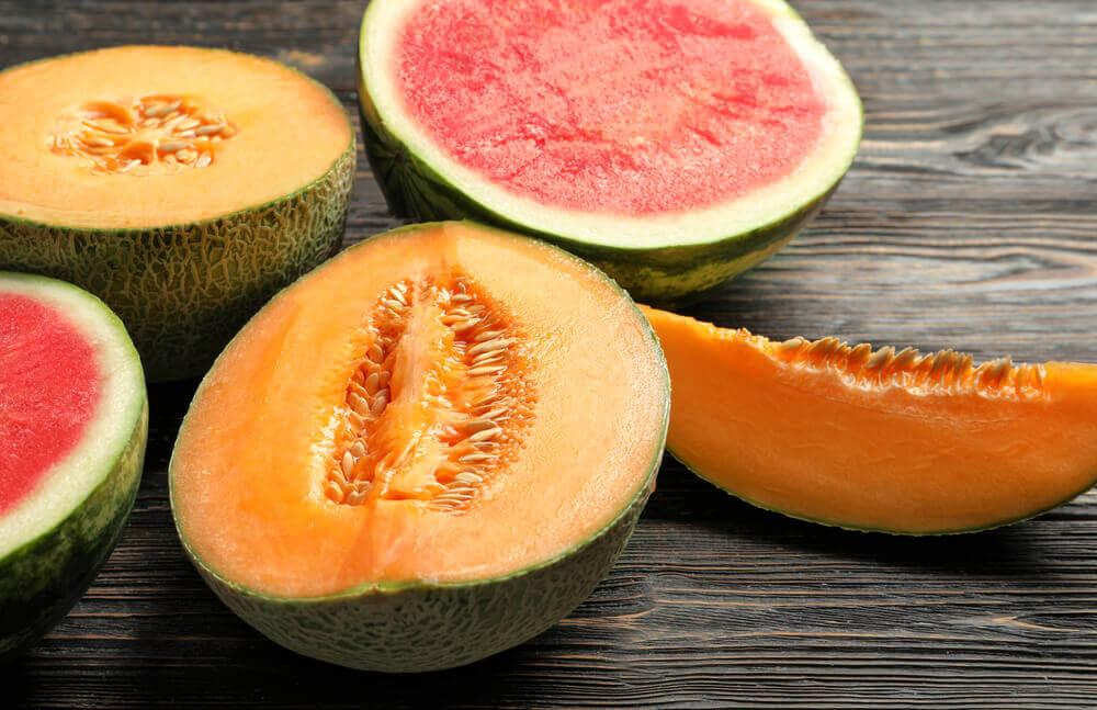 Undgaa at blande meloner med andre foedevarer