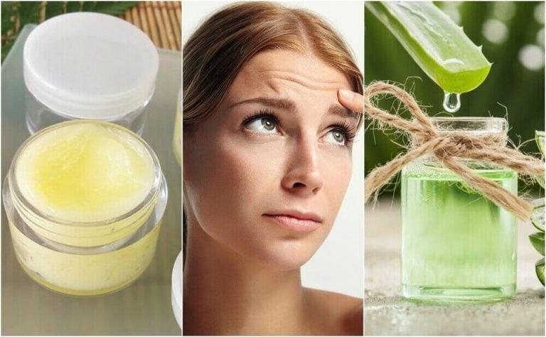 5 naturlige behandlinger til at mindske rynker i panden