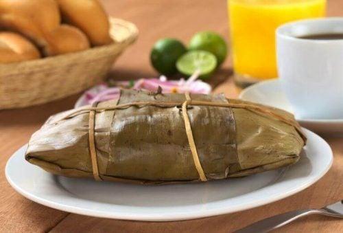 Tamales paa en tallerken