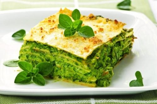 En spinat lasagne