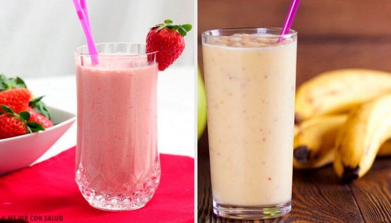 5 jordbær-banan smoothies til morgenmad