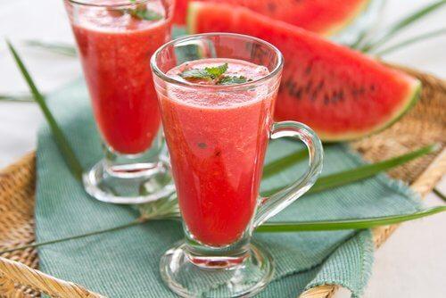 Vandmelon smoothie - reducere dit mavefedt