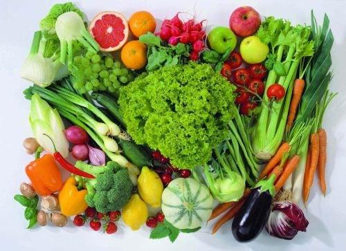 En stor bunke groentsager