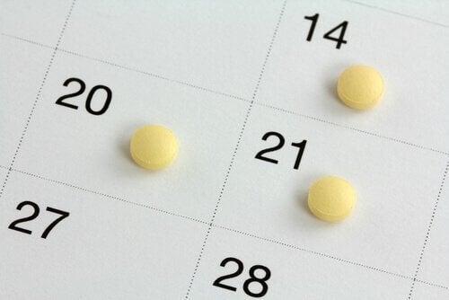 P-piller på kalender.