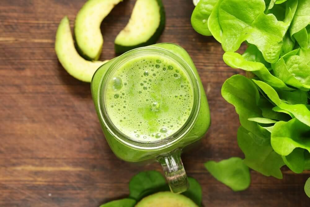Grøn juice.