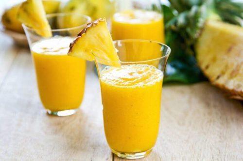 Ingefaer og ananas shot