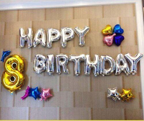 Fødselsdag med balloner