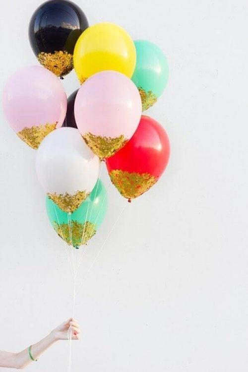Balloner med glitter