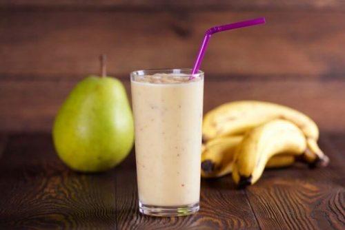 Banan paere smoothie
