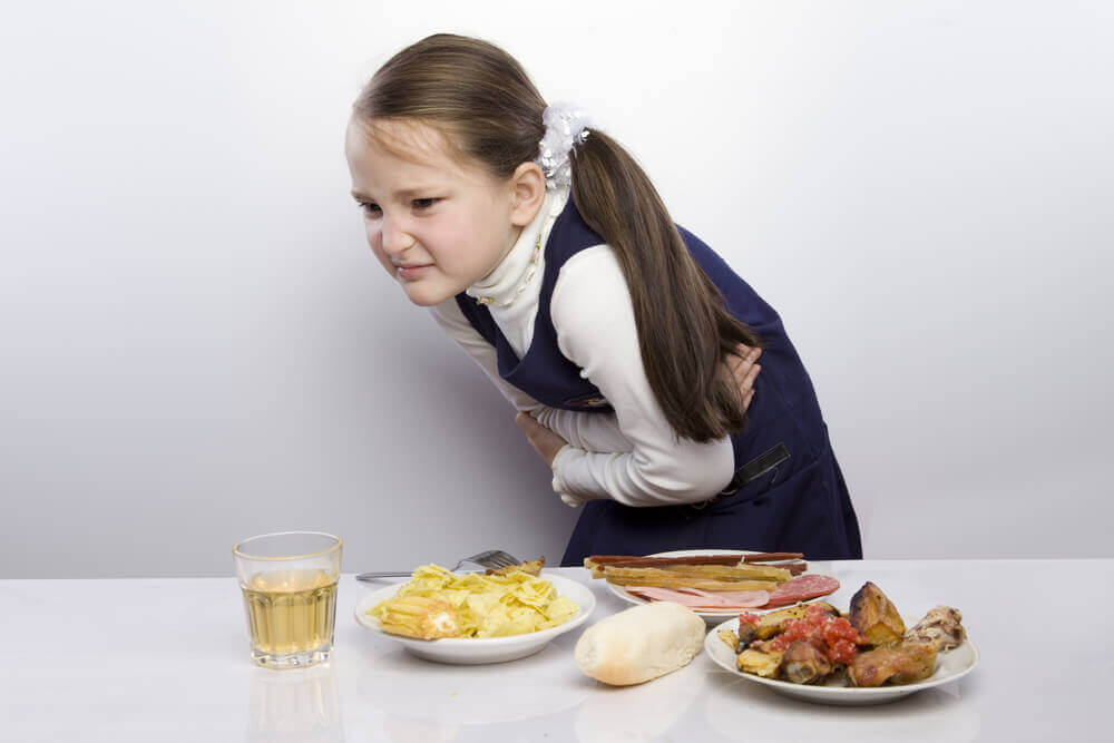 barn med mavesmerter