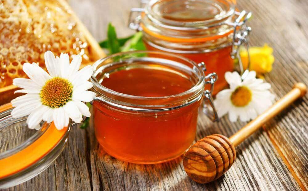 honning og æggeblomme