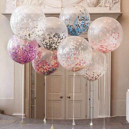 Store gennemsigtige balloner