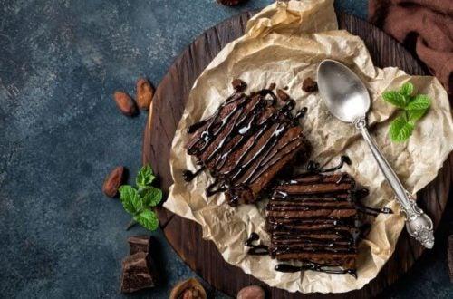 Kaffe brownies med chokolade