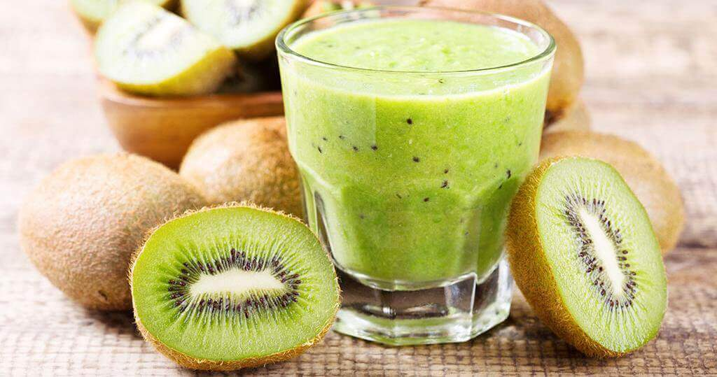 Kiwi- og spinatjuice.