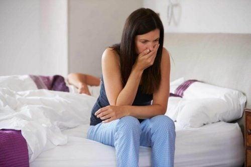 Kvinde med bivirkninger