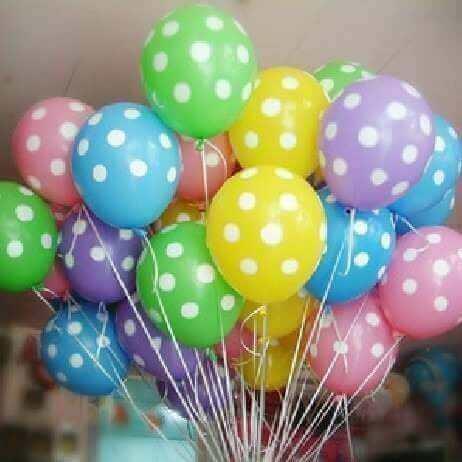 Balloner med polka prikker