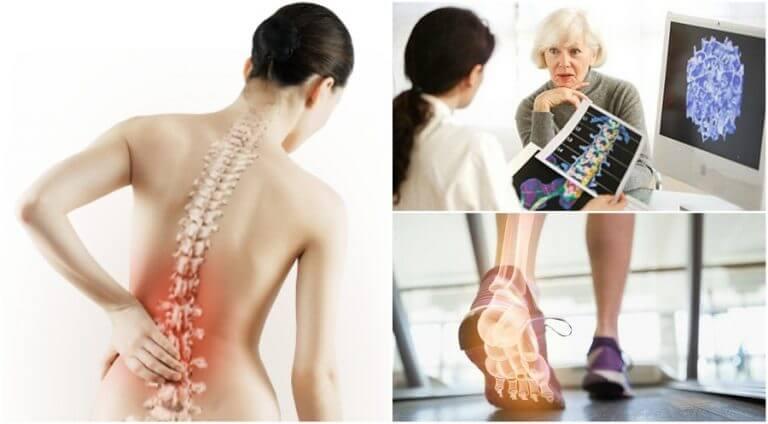 Personer hos lægen med dårlig ryg.