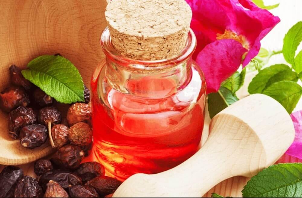 shea smør og rosenolie