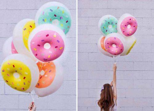 Donut formede balloner