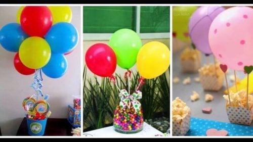 Slik-inspirerede ballon dekorationer