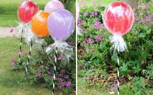 Slikkepind balloner