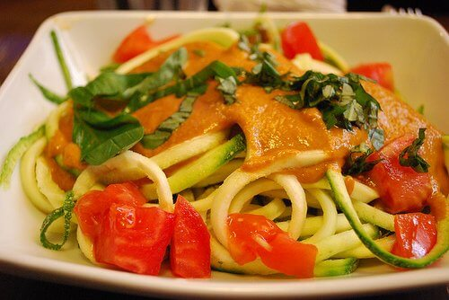 spaghetti med græskar