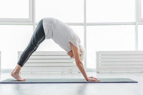 Person dyrker yoga