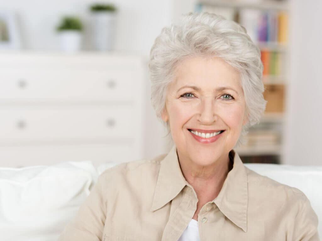 Ældre kvinde.