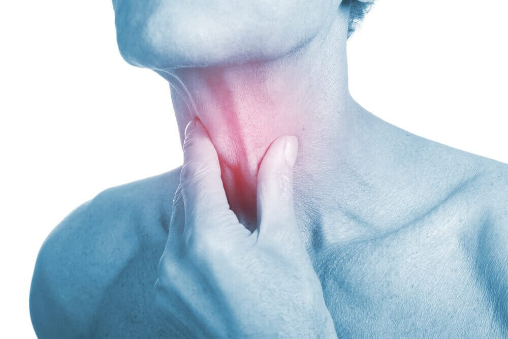 Fire antibakterielle midler mod halsbetændelse