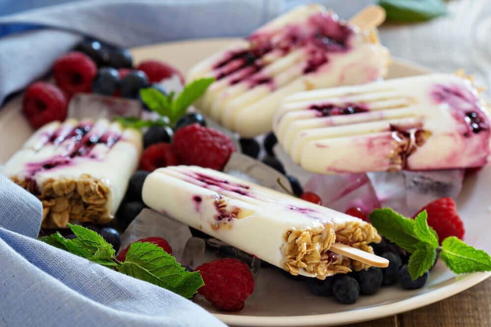Tre opskrifter på frossen yoghurt