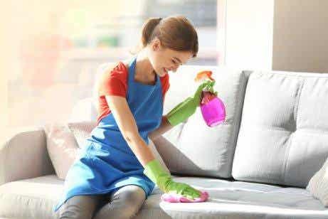 Fem ingredienser til at fjerne støv fra møbler
