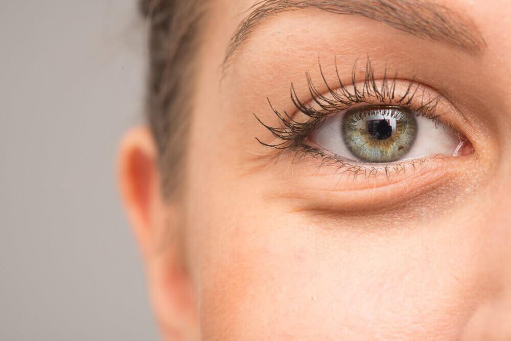 Kvindes øje.