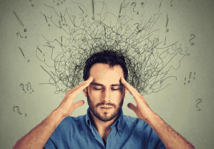 Mand har mange ting i hovedet.