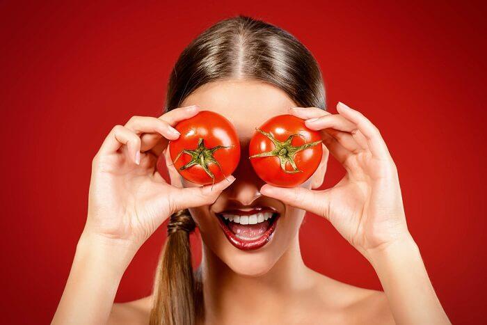 Tomater som eksfoliering.