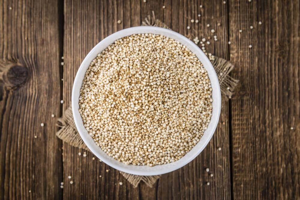 Quinoa i en skål