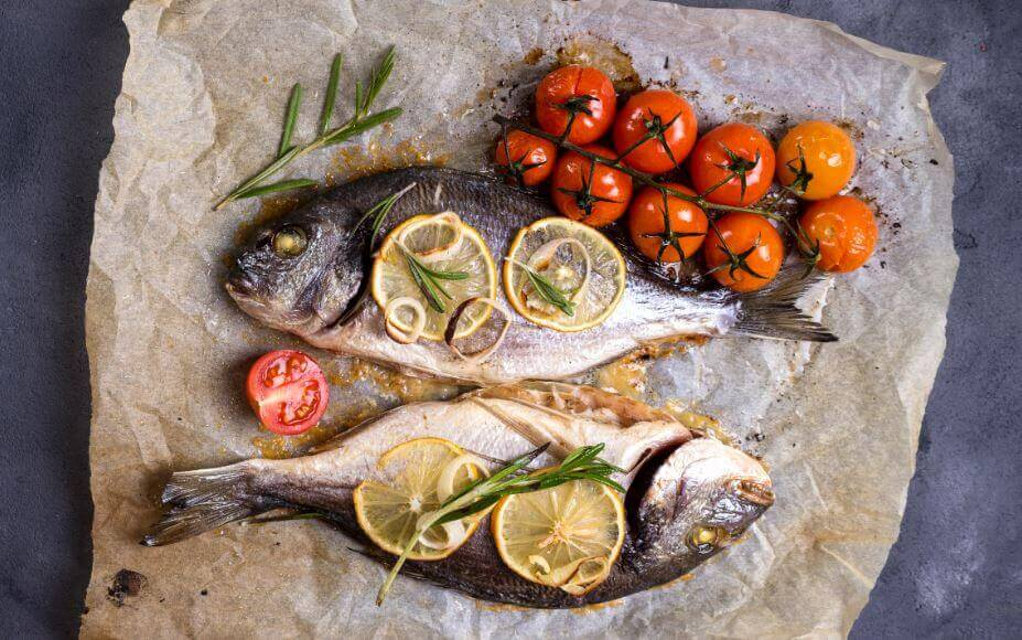 Fisk med grøntsager